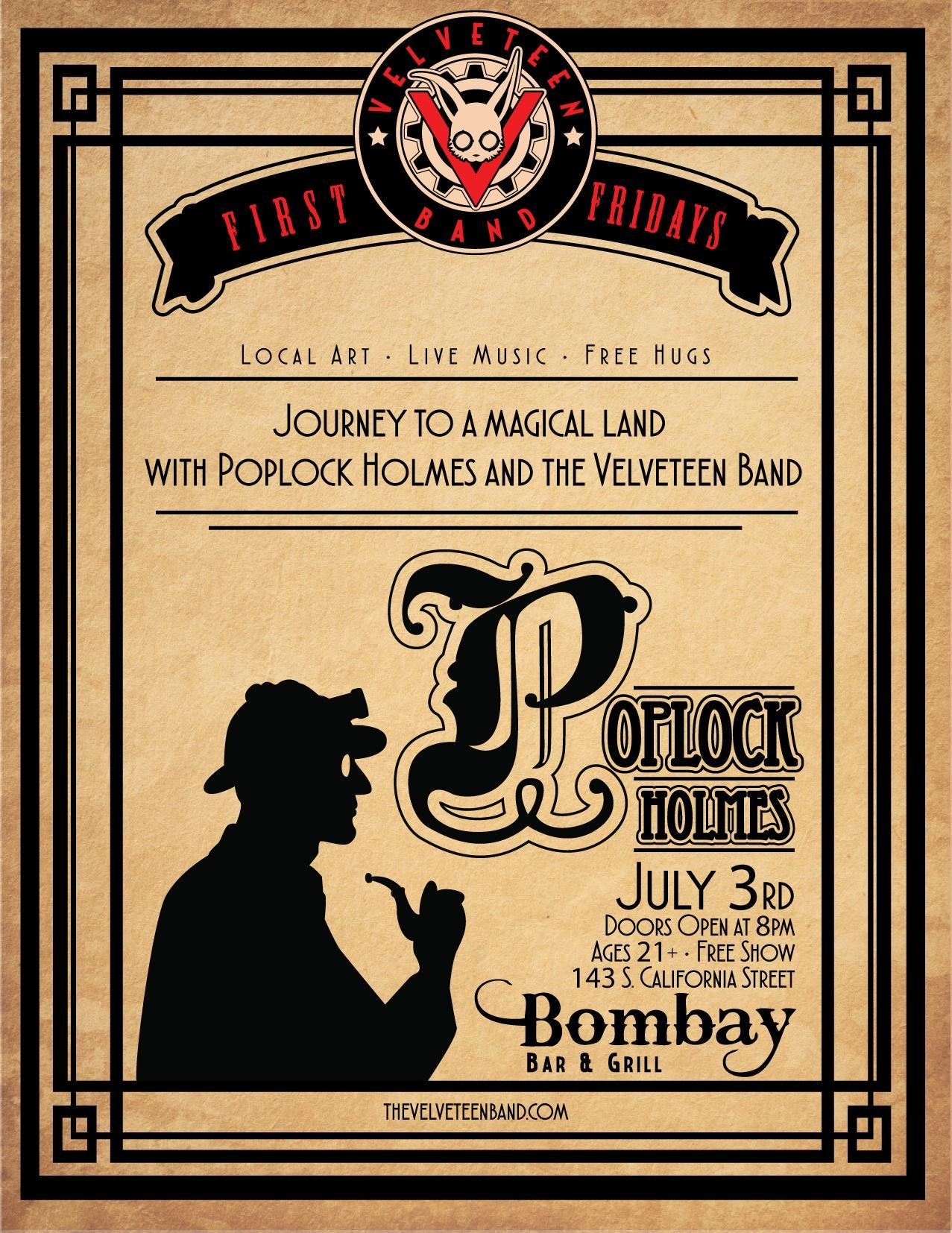 First Fridays presents Poplock Holmes