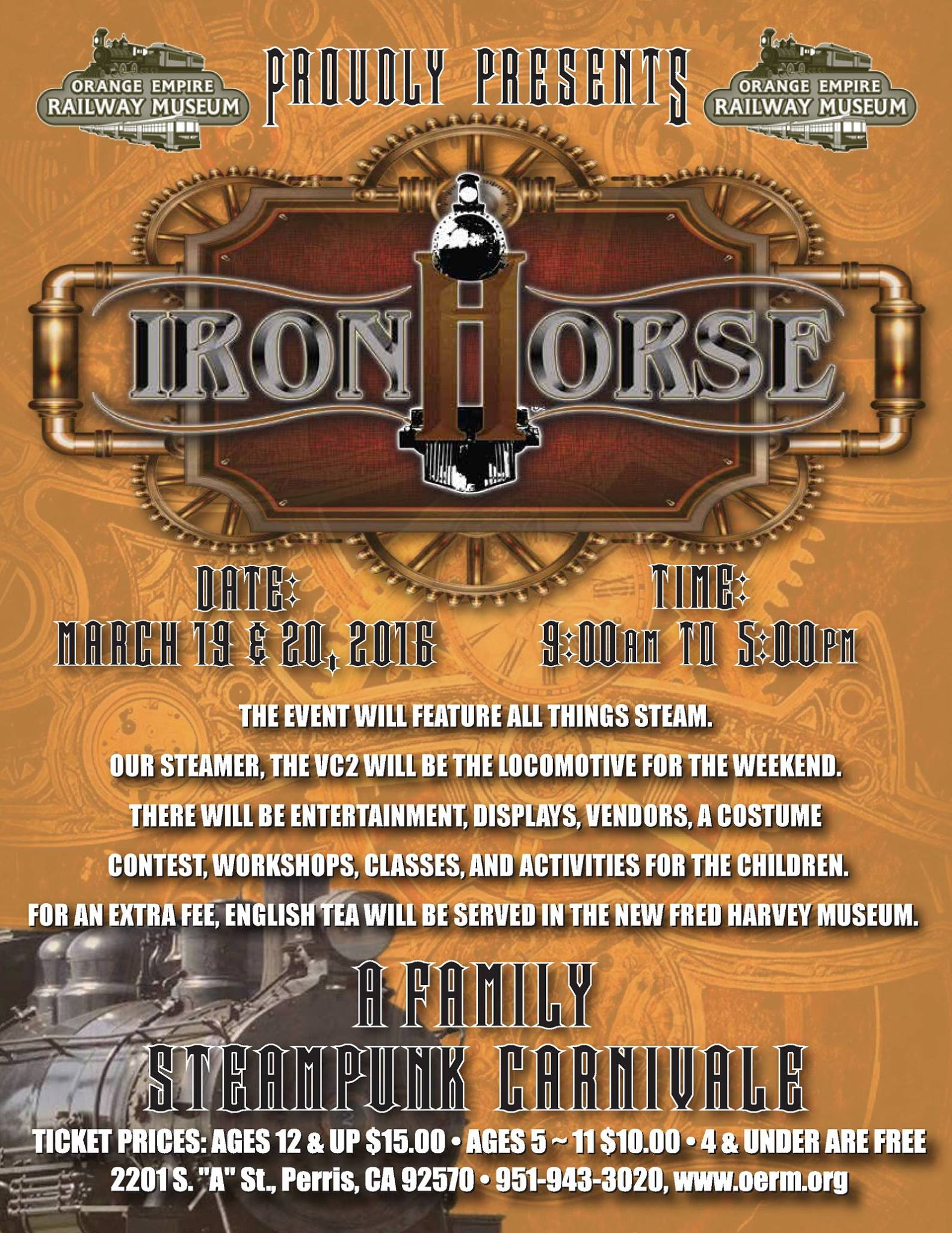 flyer - Iron Horse Family Steampunk Carnivale 2016