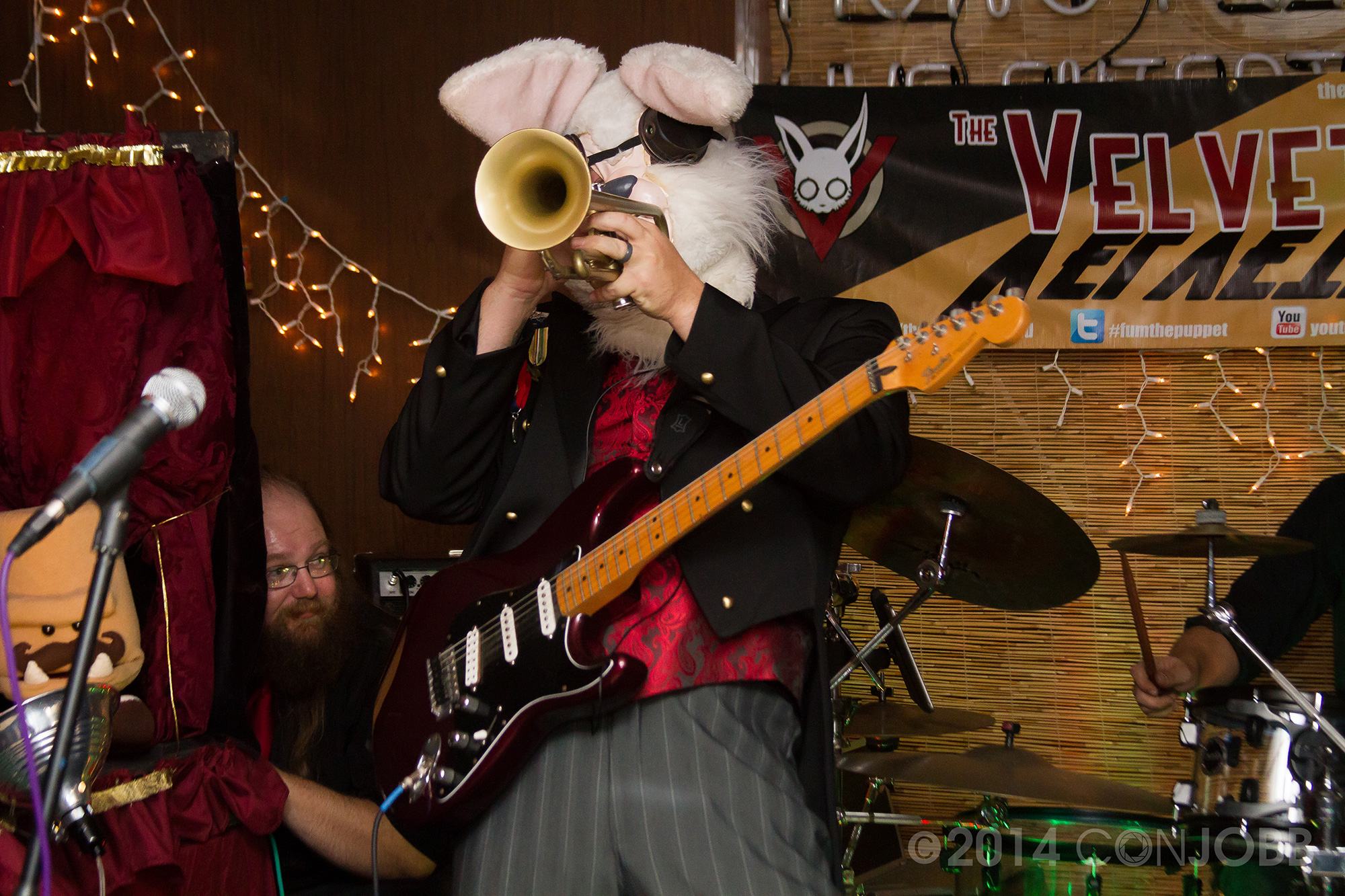 the Baron - Trumpet and Guitar  - photo by Jon Cobb - Novebmer 7 2014