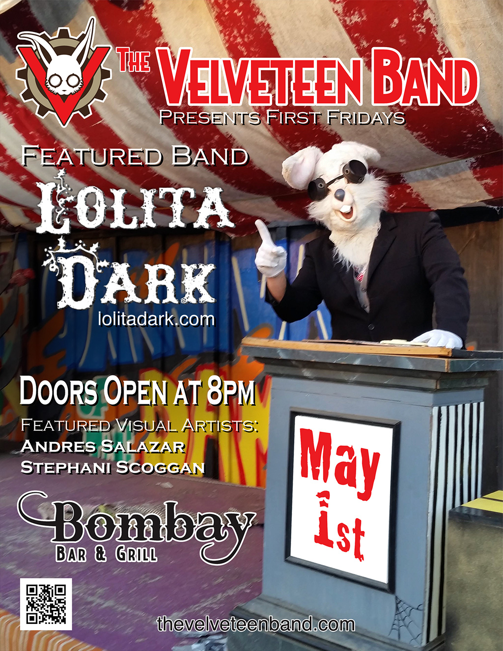 First Fridays at Bombay featuring Lolita Dark